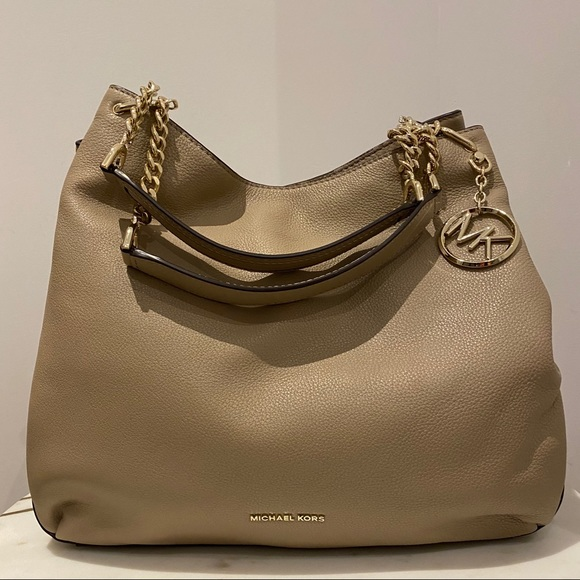 Michael Kors Lillie Chain Shoulder Tote In Truffle